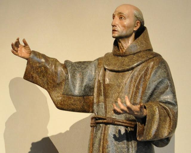 Detalle de ropaje y cara San Pedro Alcántara