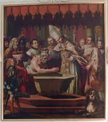 Bautismo del duque Teodón por San Ruperto